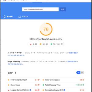 Google PageSpeed Insights Score 70